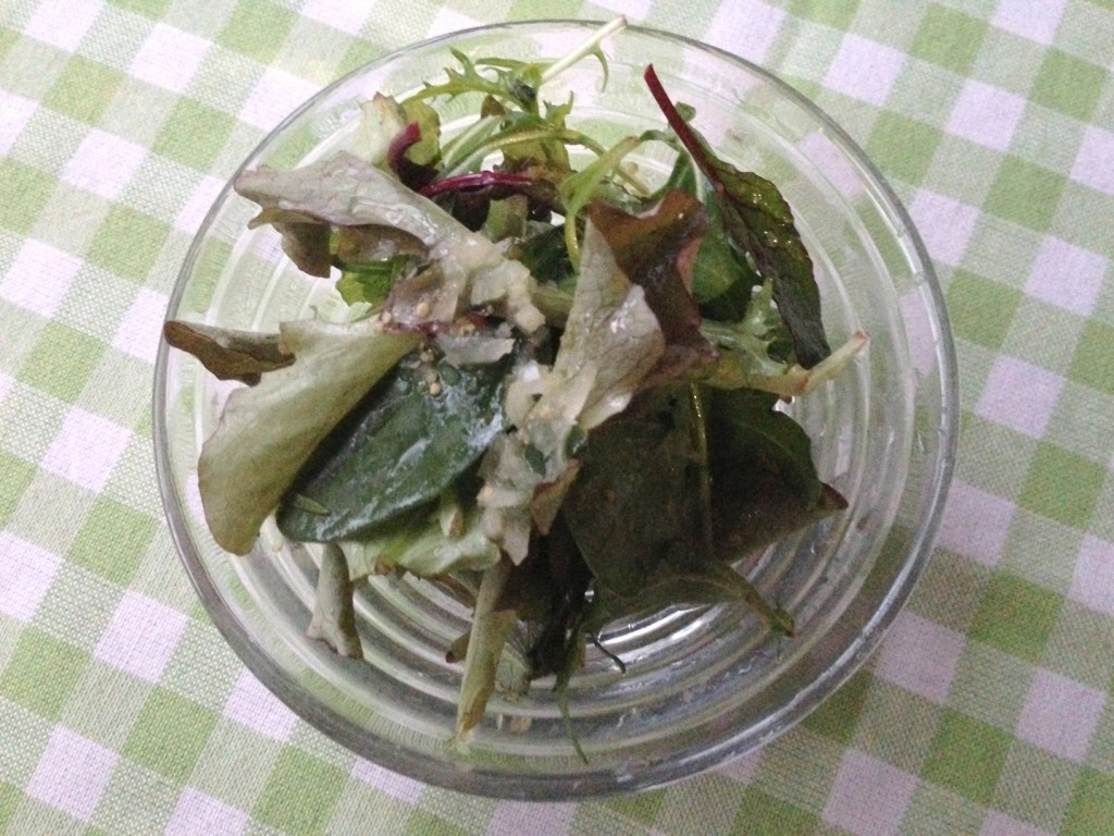 グリーンサラダ リンゴ酢のヴィネグレット