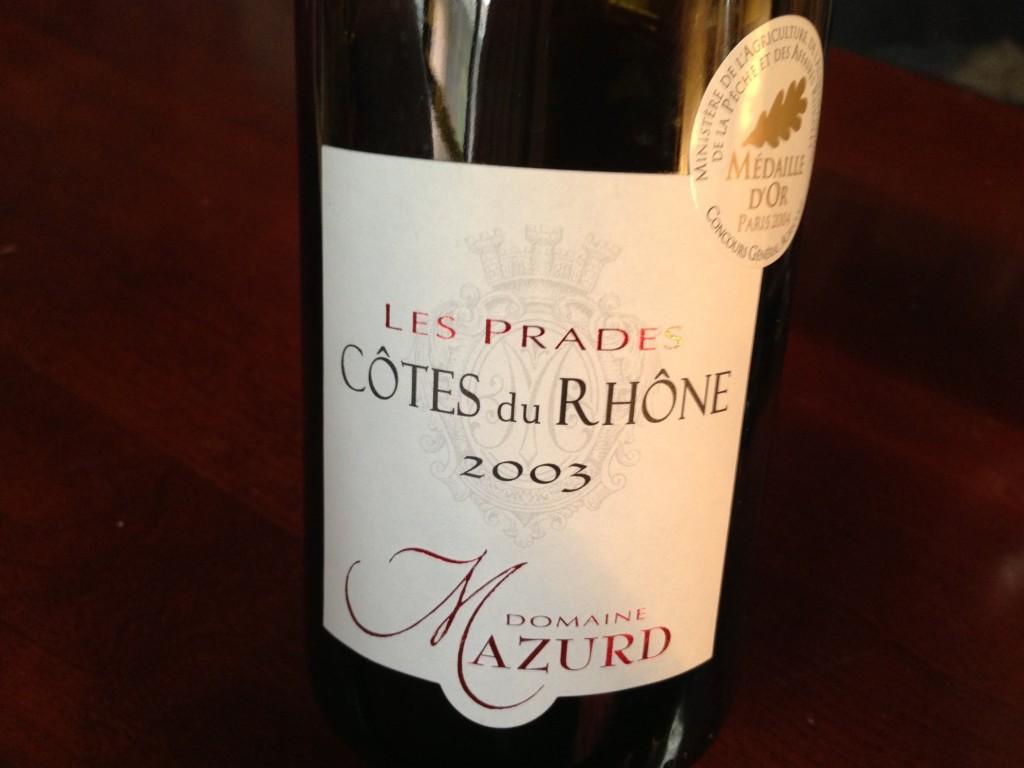 2003 Cotes du Rhone Les Prades