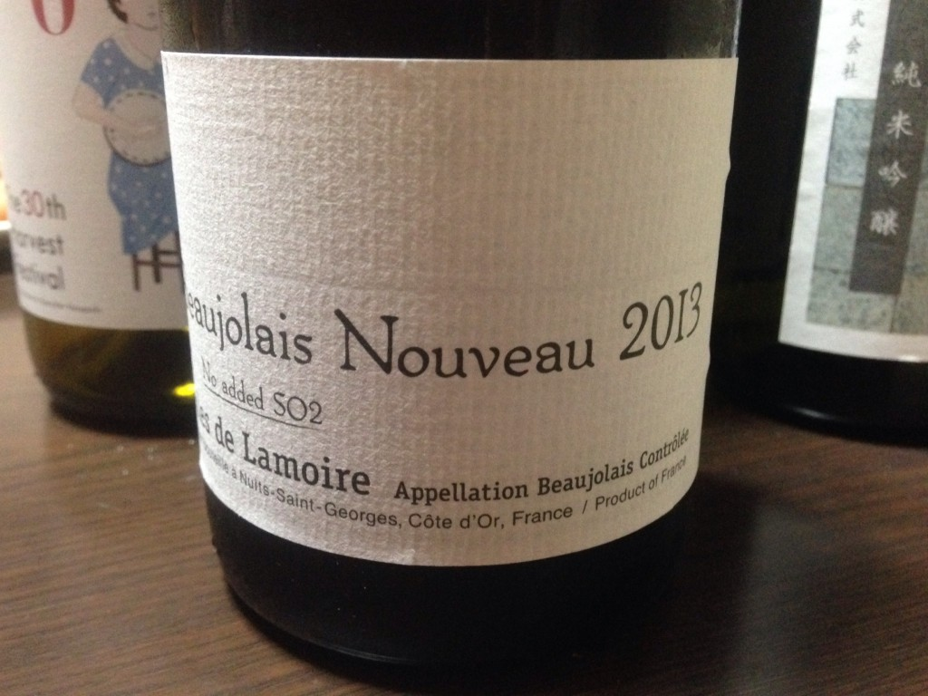 2013 BEAUJOLAIS NOUVEAU NO ADDED SO2/GILES DE LAMOIRE