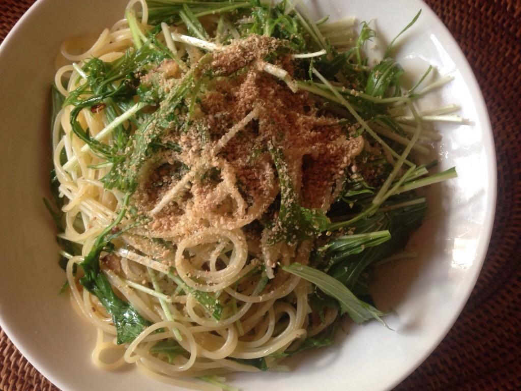 水菜のアーリオオーリオ