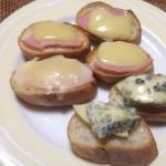 ハム&コンテ、りんご&ブルーチーズのタルティーヌ×チリのロゼスパークリング
