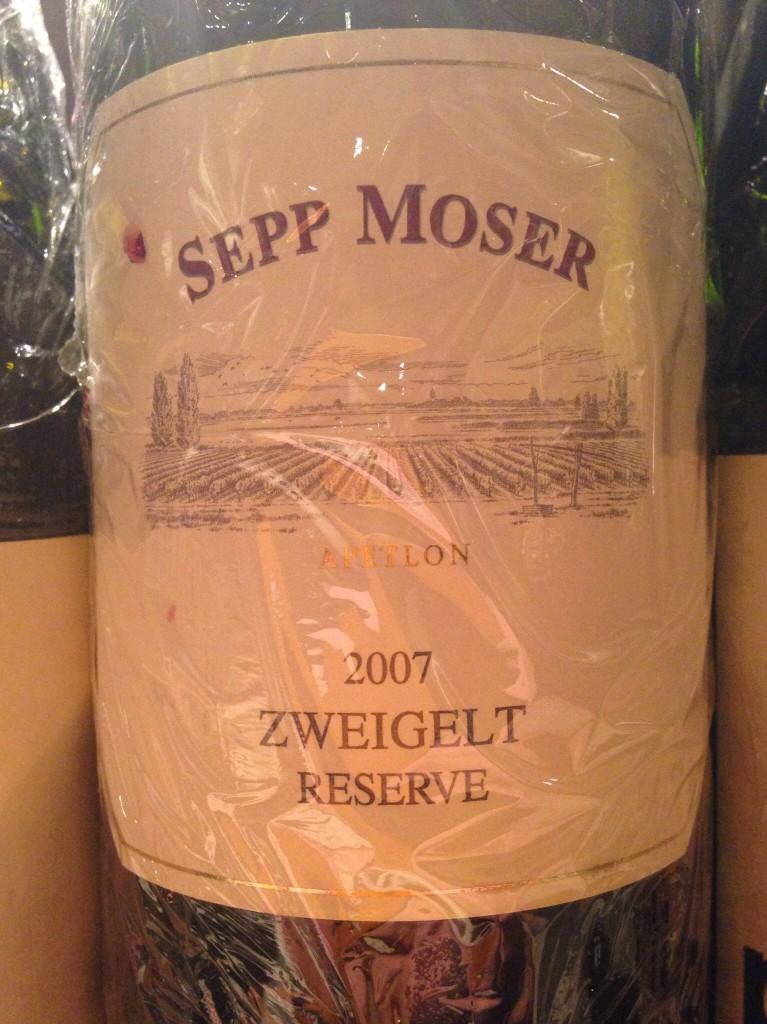 2007 Zweigelt Reserve(Sepp Moser)