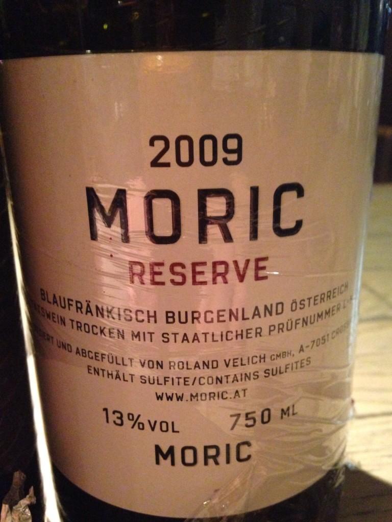 2009 Moric Blaufraenkisch Reserve(Moric)