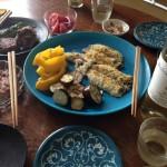 【日常料理教室】鯵、鰯、枝豆、なす、トマト、大葉、みょうが×山梨の甲州(7月)