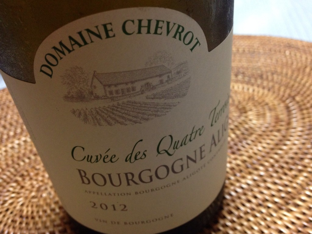 2012 Bourgogne Aligote Cuvee des Quatre Terroir Domaine Chevrot