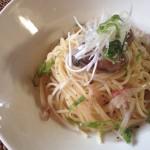 牡蠣の冷製パスタ×日本のシャルドネ