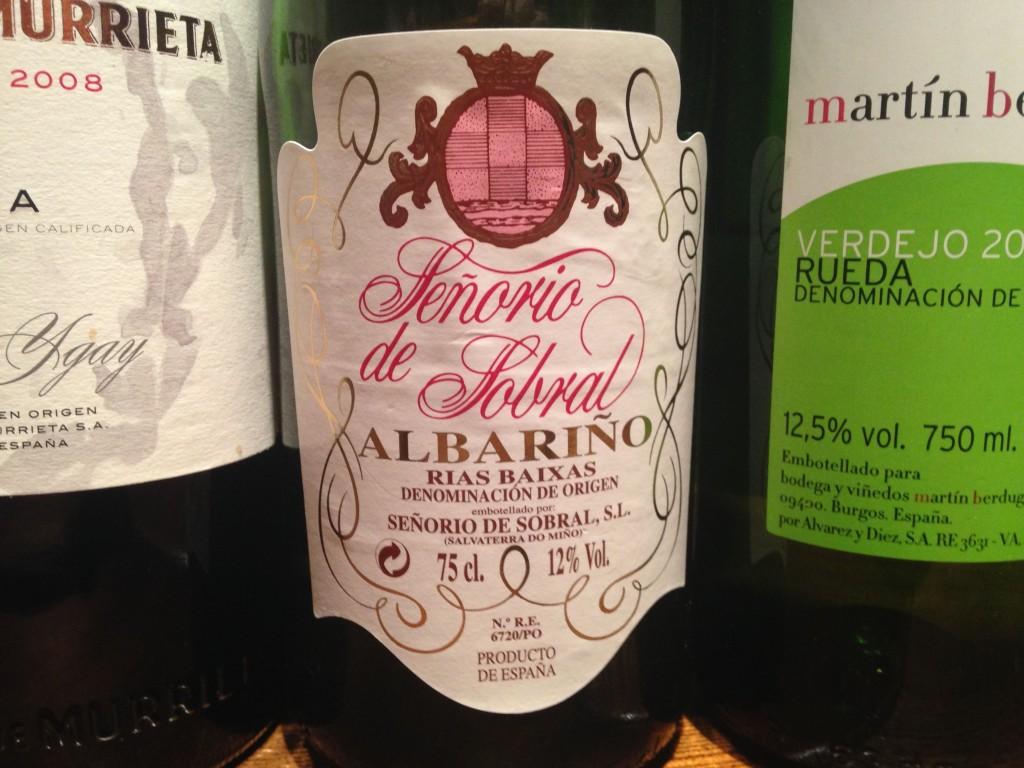 2013 Senorio del Sobral Albarino