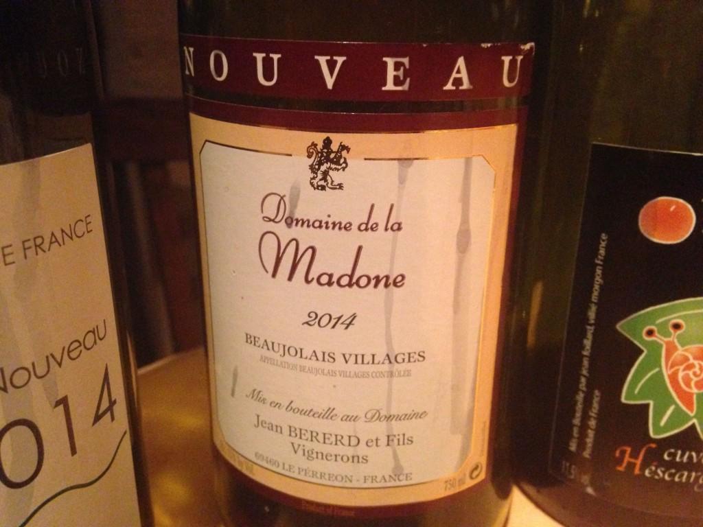 2014 Beaujolais Villages Nouveau Dmaine de la Madone