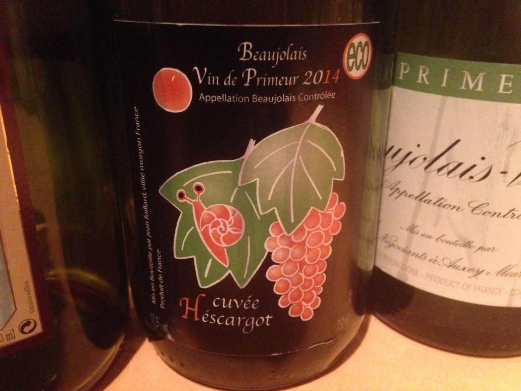 2014 Beaujolais Vin de Primeur Cuvée Héscargot Jean Foillard