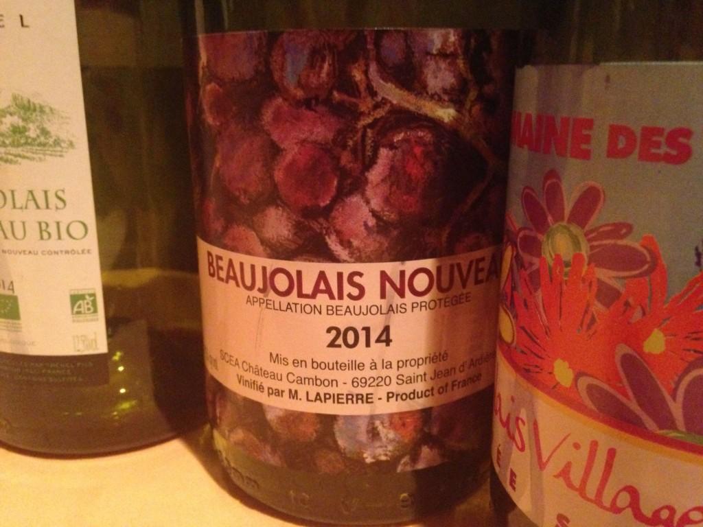 2014 Beaujolais Nouveau Marcel Lapierre