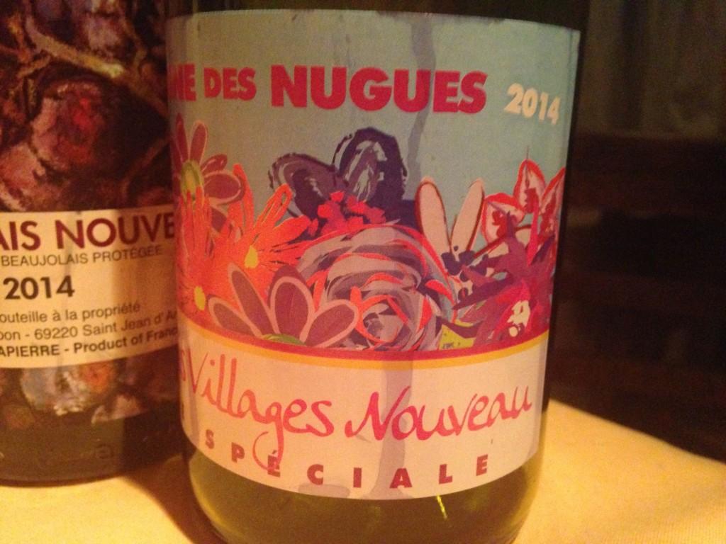 2014 Beaujolais Villages Nouveau spaciale Domaine des Nugues