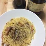 スパゲッティ・カルボナーラ×イタリアの赤泡