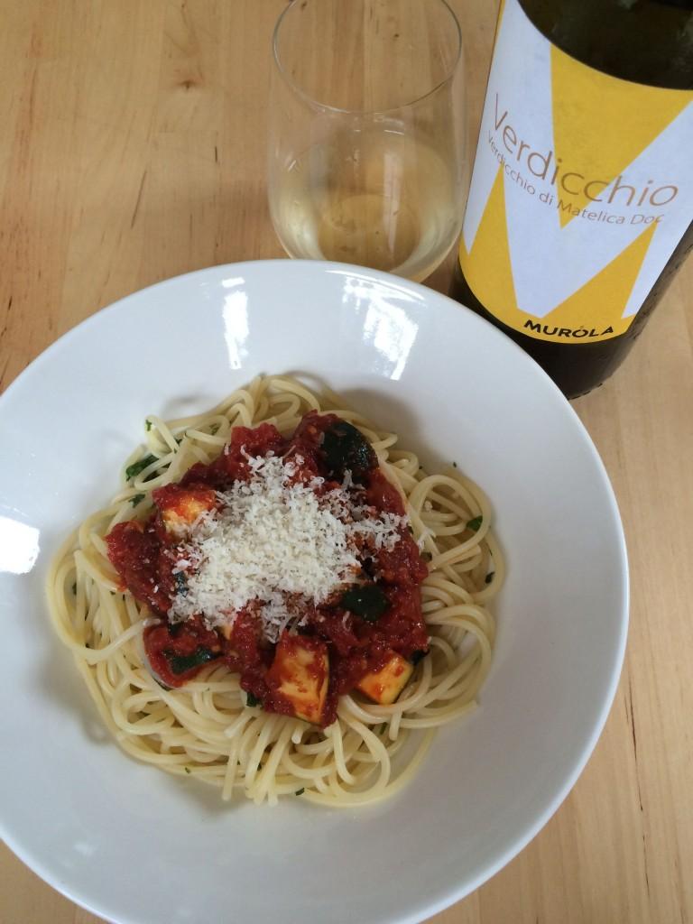 【頒布会のべんきょう】トマトとズッキーニの冷たいパスタ×イタリア・シチリアの白