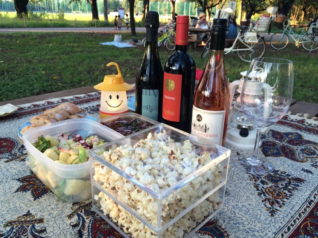 公園ワイン会
