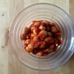 ひよこ豆のチリビーンズ×コート・デュ・ローヌの赤