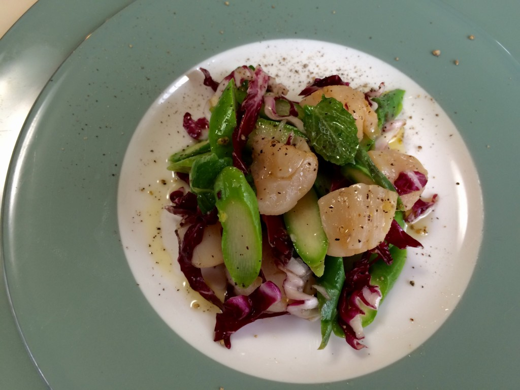 The Scallop and Fava Beans Salad