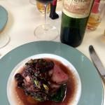 【Niki's kitchen】春のチェリーソースで楽しむ鴨。そして表面をさっと焼いた「ポワレ」のタルタル(カリフォルニアキュイジーヌ料理教室ロバートさん)