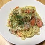 【レシピブログ】鮭の豆乳パスタ パクチー風味×アルザスのピノグリ