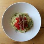 きゅうりとトマトの冷製スパゲティ × スペインの白