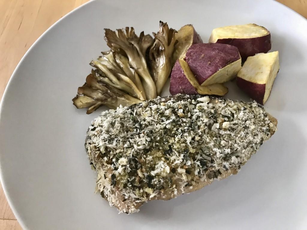 魚介のパン粉焼き