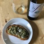 【レシピブログ】なすとゴルゴンゾーラのブルスケッタ × イタリアの白