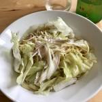 【レシピブログ】レタスとツナのスパゲティ ×  長野の白ワイン