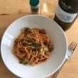 キャベツとサルシッチャのトマトソーススパゲティ × celsole BIANCO