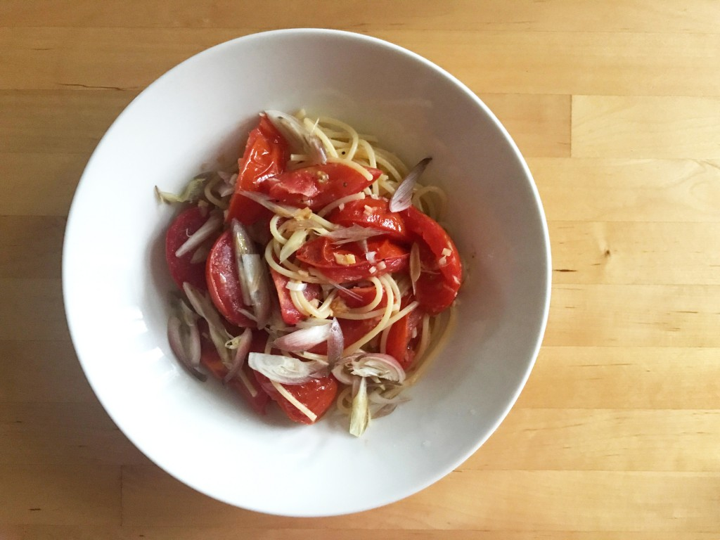 トマトのパスタ ジンジャー風味