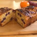 【レシピブログ】柿と紫芋のケークサレ × 山梨ヌーボー