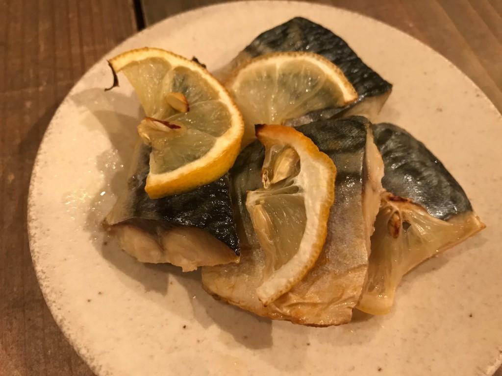 サバのレモン焼き(おはしごはん)