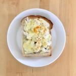 【レシピブログ】ささみのしそ梅チーズトーストの朝食