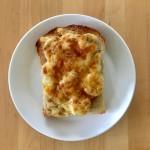 【レシピブログ】バナナチーズトーストの朝食