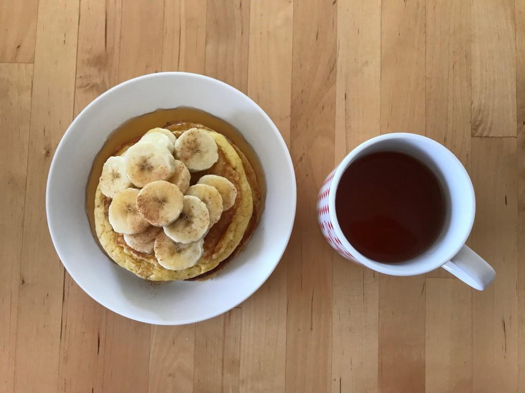 リコッタパンケーキ × 紅茶