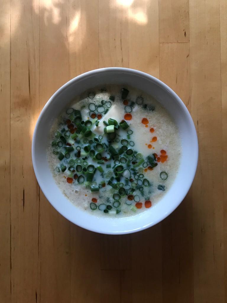 豆腐の豆乳スープ