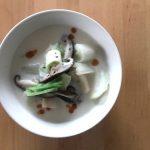 【レシピブログ】豆乳仕立ての具だくさんスープ × 山梨の甲州