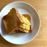 【レシピブログ】モーニング卵サンド × ソイミルクティー