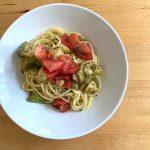 【レシピブログ】白なすとトマトの冷製パスタ × 群馬の赤